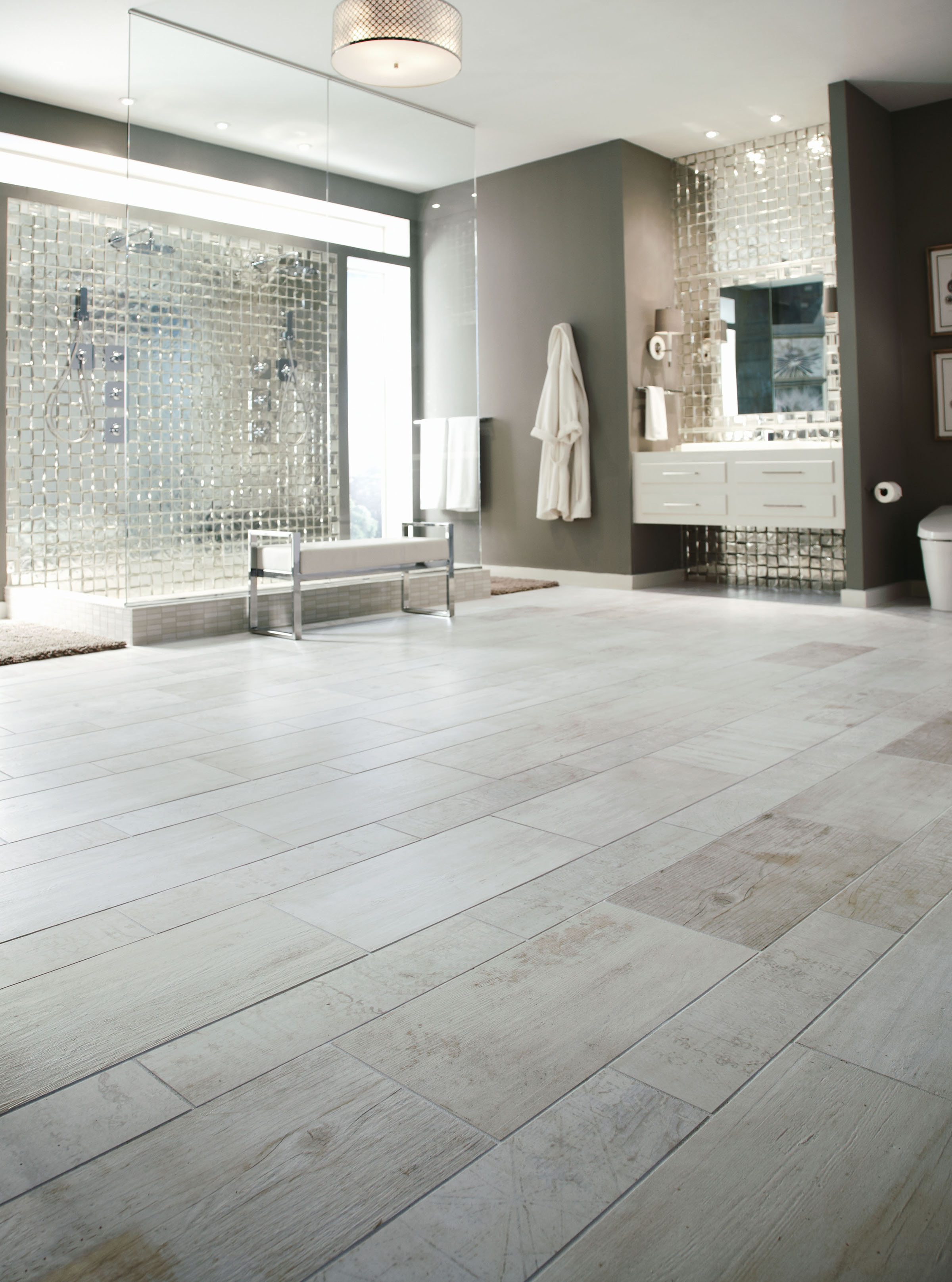 Uncovering the latest trends in tile live from coverings for Trends in bathroom tile