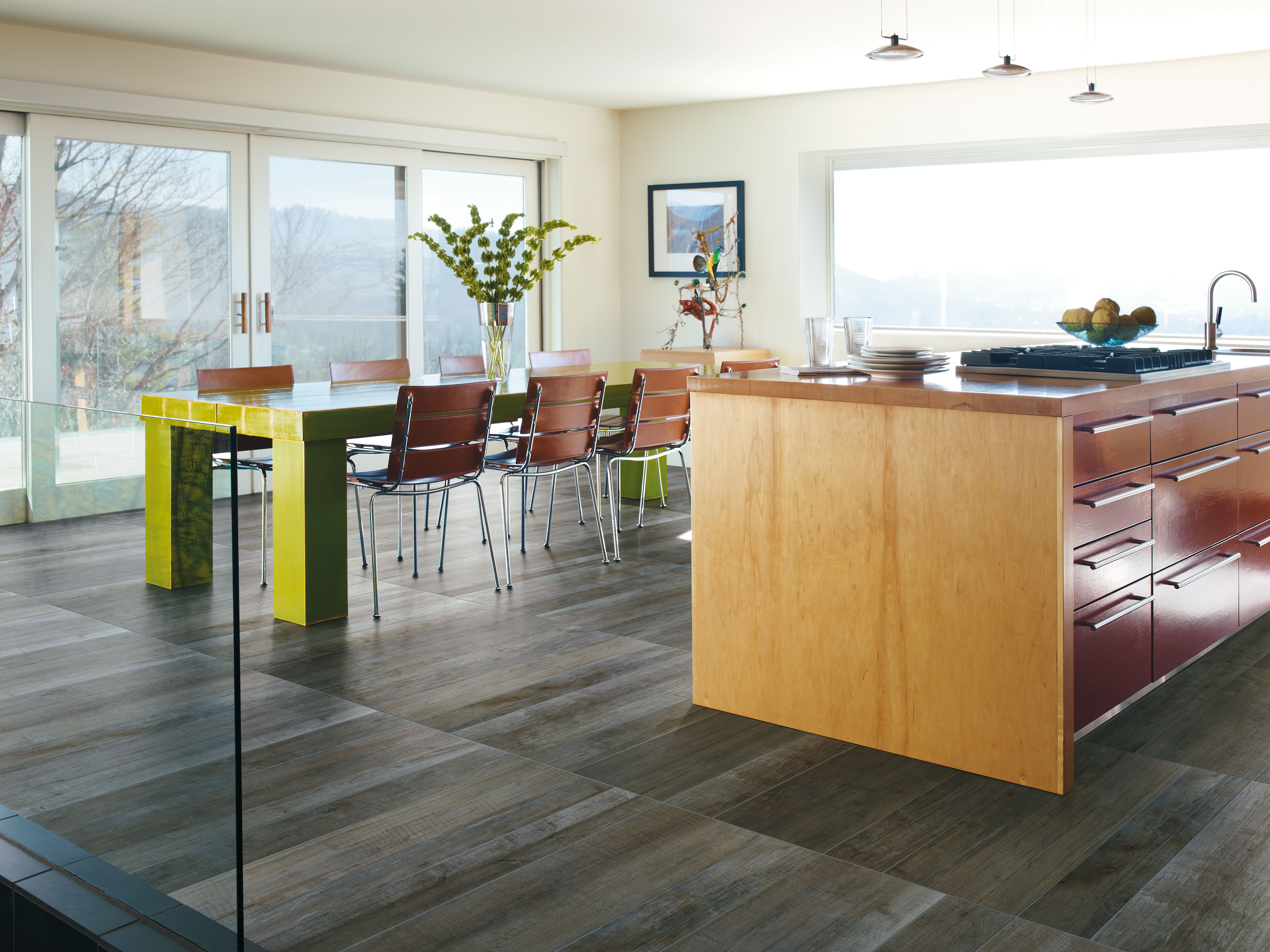 Uncovering the latest trends in tile live from coverings for Latest kitchen flooring trends