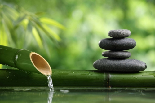 fountain-and-zen-stone