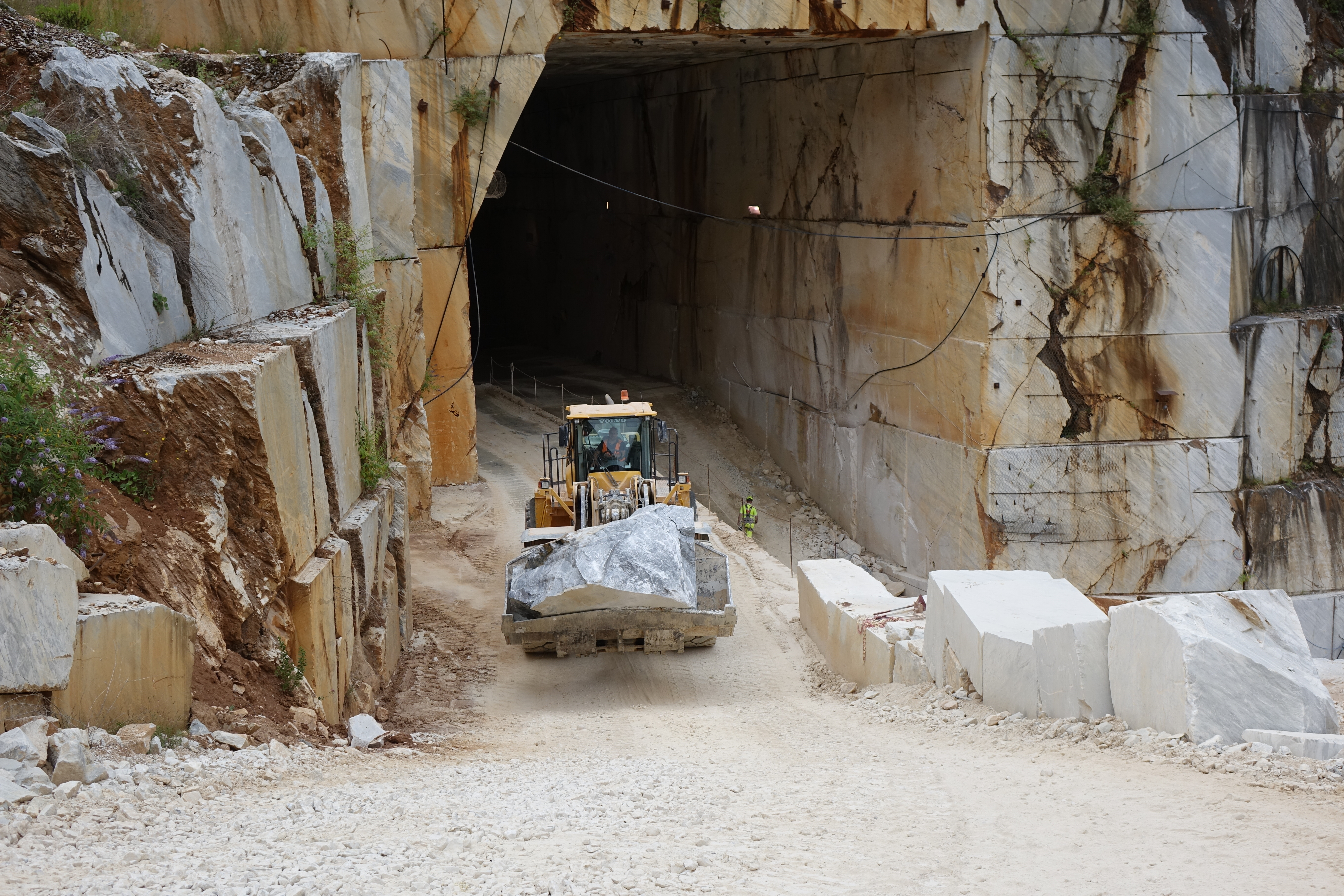 Italian marble quarry. Photo courtesy of the Natural Stone Institute.