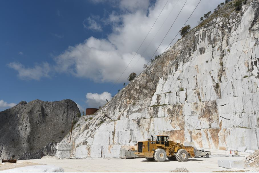 Italian marble quarry