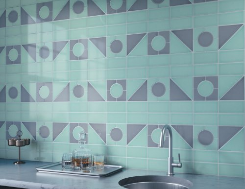 eclectic wall tile line - backsplash