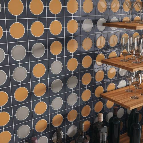 eclectic wall tile line - bar wall detail